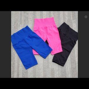 NWOT Free people good karma bike shorts HOT PINK